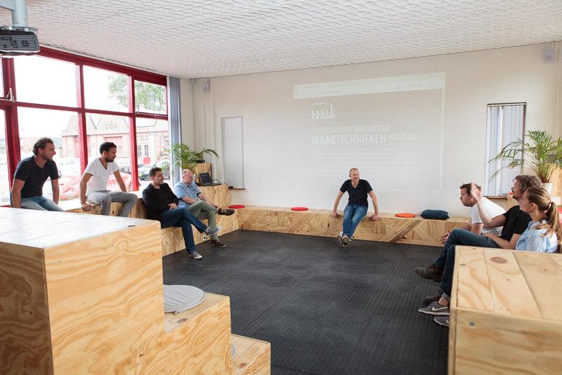 MAAK-Haarlem-Centrum-voor-innovatieve-technieken-circulaire-economie-vergaderen-workshops-trainingen-ruimte-huren-presentaties-debatteren-brainstormen